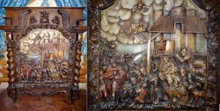 Настенная панель с библейским сюжетом. ок.1800 г. 106/21/122 см.