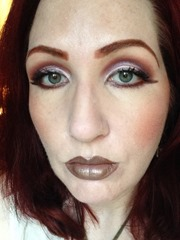 wearing NYX Cosmetics High Definition Blush in Nude'tude
