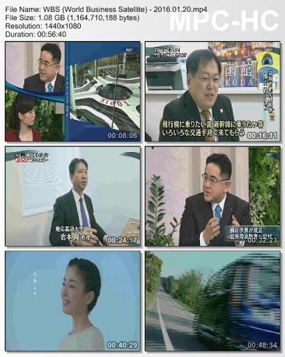 [TV-Variety] WBS (World Business Satellite) – 2016.01.20