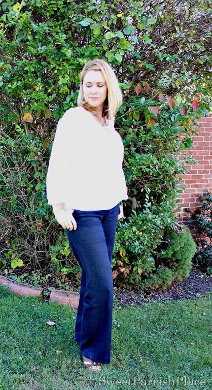 denim-trouser-pants-white-blouse-brown-wedges-1