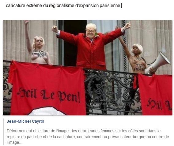 Caricatura extrèma de la Familha Le Pen