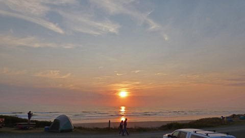 Sunset, South Beach Campground, Olympic National Park