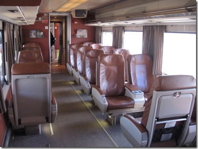 IMG_2797 Amtrak Cascades Talgo Pendular Series VI Business Class Interior at Union Station in Portland, Oregon on May 8, 2010