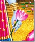 [Vishnu holding flower]