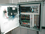 A custom-built remediation system for a gas station. Pictures shows extensive fail-safe control panel.