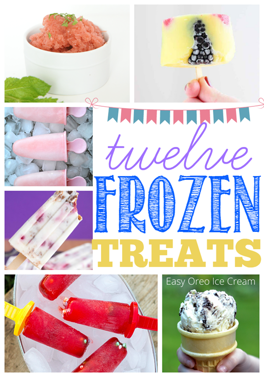 12 Frozen Treats at GingerSnapCrafts.com #frozen #treats