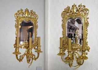 Два зеркала из бронзы. 19-й век. 4000 евро.