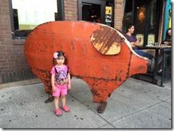Saratoga  pig art