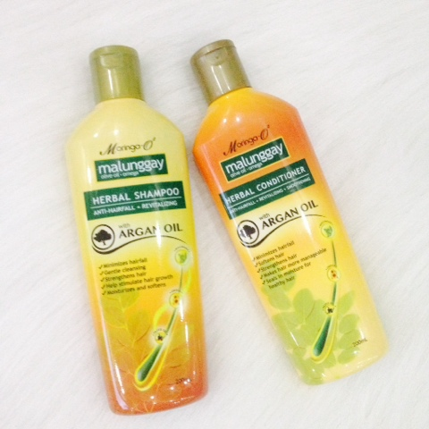 Moringa-O Herbal Shampoo and Conditioner with Argan Oil