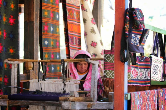 Yatra wool being woven at Chume Valley, Bumthang, Bhutan