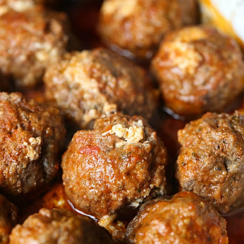 Slow Cooker Ricotta Stuffed Meatballs
