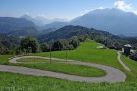Auf der SP35 von Ampezzo nach Maiaso über die Forca di Pani (1116m).