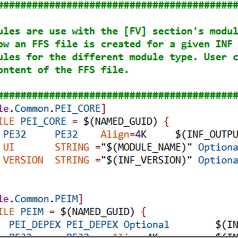 Syntax Highlighting for EDKII Files: .dec, .dsc, .fdf, .inf, .uni, .vfr
