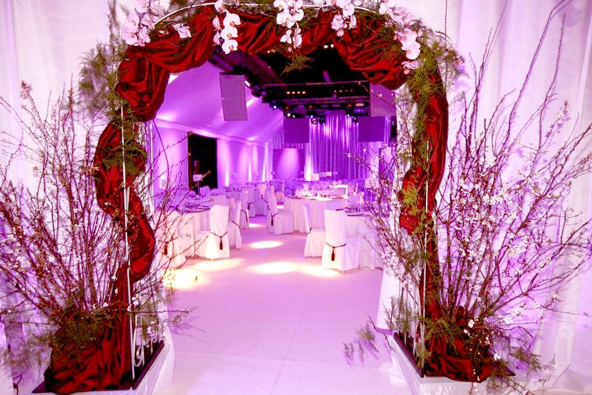decorative trellis archway
