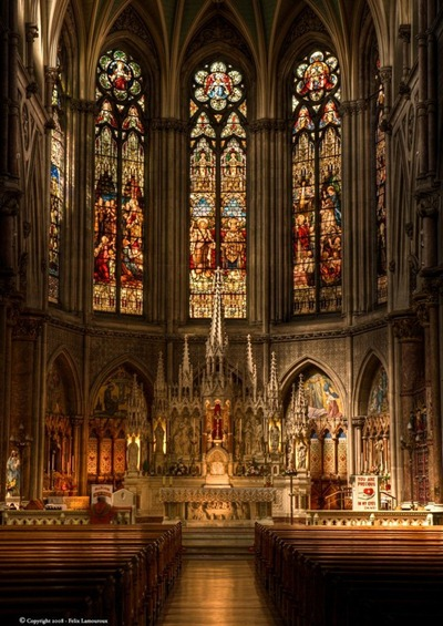 altar in St. Augustine & St. John Church in Dublin