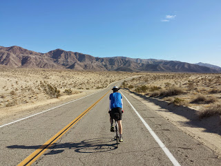 Day 5. Long, relatively flat day through the desert.