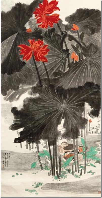 嘉耦图 1947年 1.91亿港元 香港苏富比 2011-05-31 Chang Dai-Chien Lotus