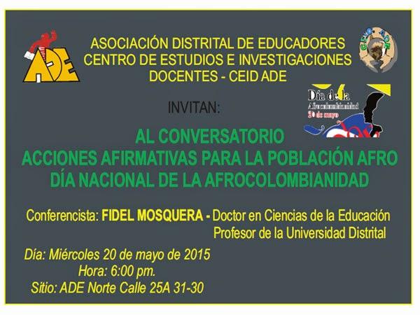 20 de Mayo Gran Conversatorio de acciones afirmativas para la población Afro