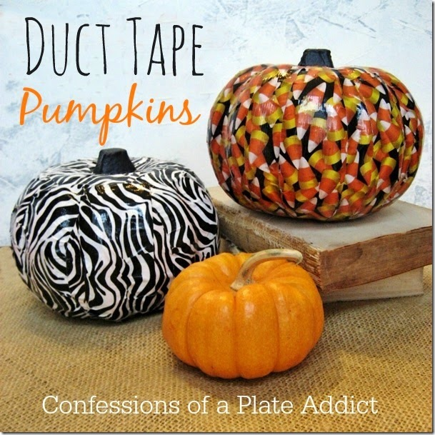 CONFESSIONS OF A PLATE ADDICT Duct Tape Pumpkins