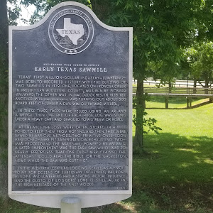 One-fourth mile north to site ofEarly Texas SawmillTexas' first million-dollar industry - lumbering - was born to recorded history with the building of two sawmills in 1819. One, located on Ironosa ...