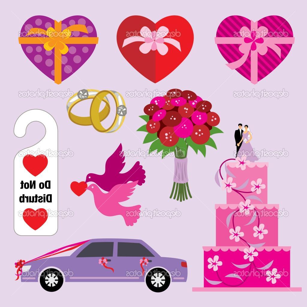 of wedding symbols.