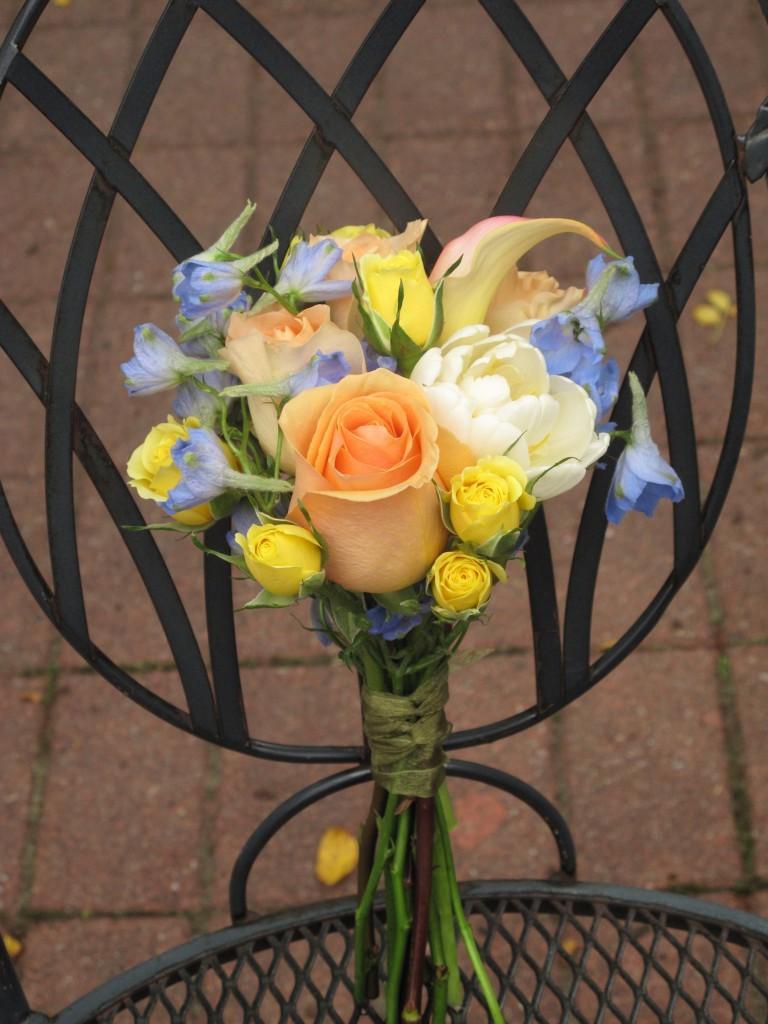 bouquets of delphinium,