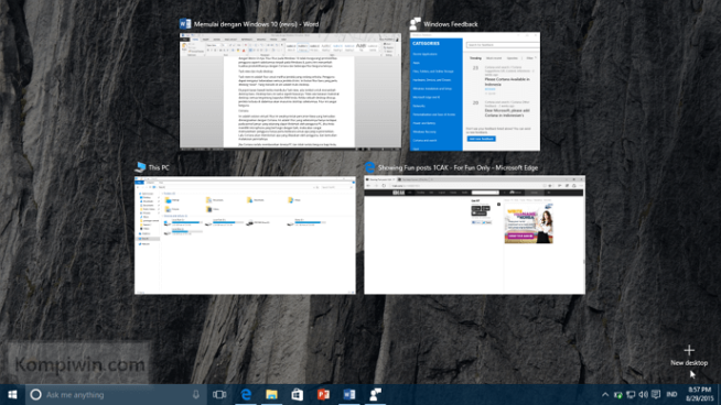 task view dan multidesktop windows 10