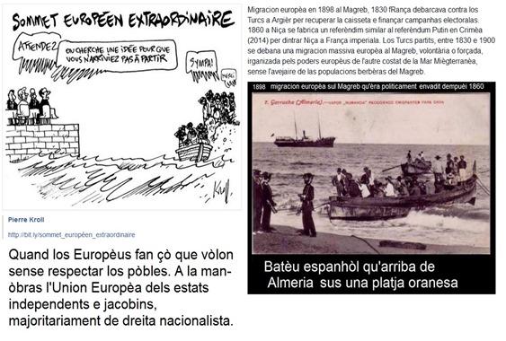 doás manièras europèas de veire la migracion dins la Mar Miègterranèa
