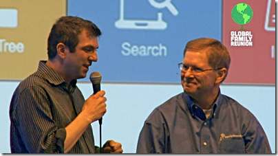 A.J. Jacos and David Rencher at the Global Family Reunion
