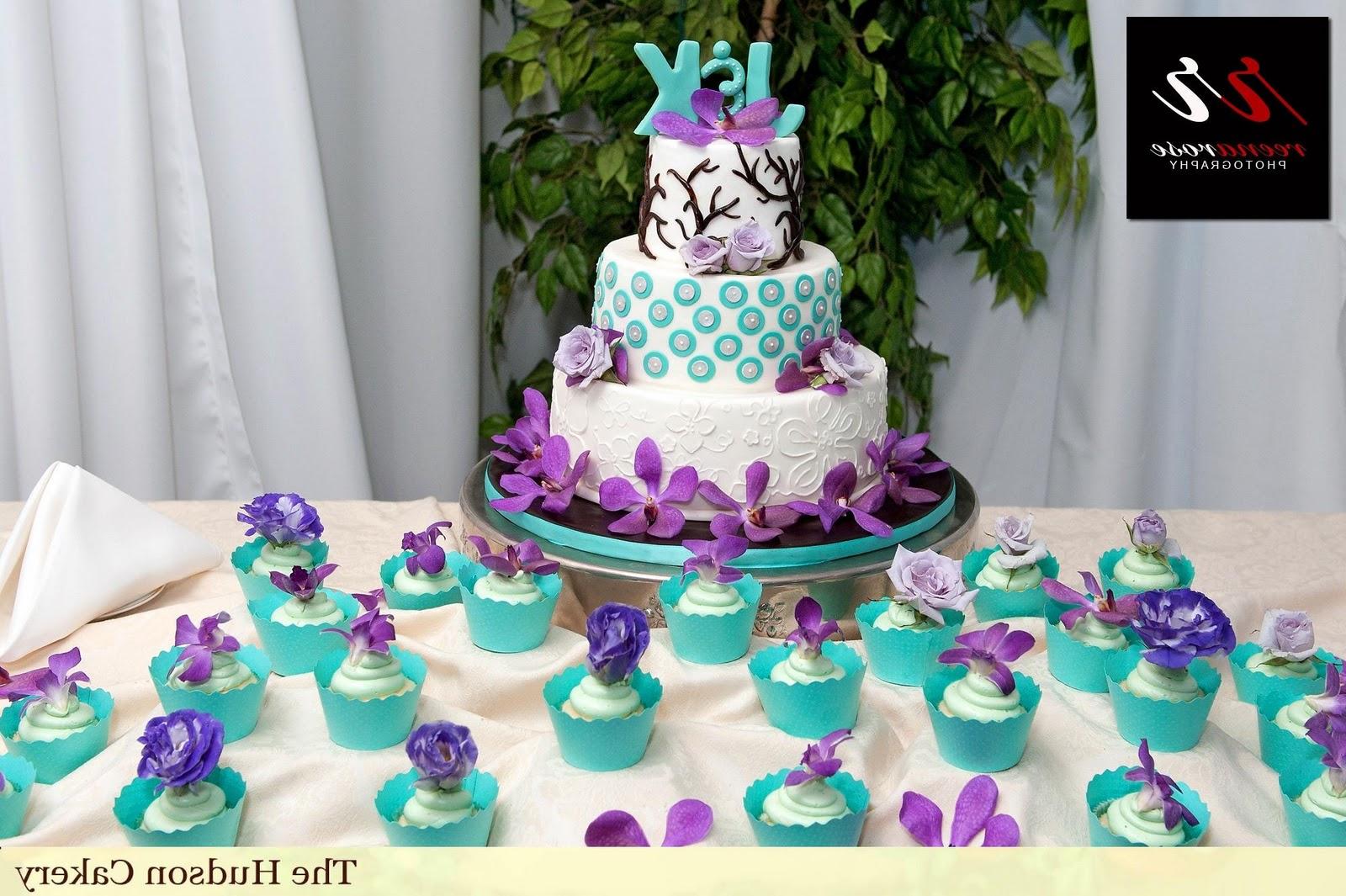 Turquoise Wedding Cake with