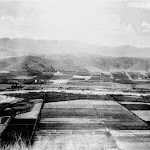 Downtown area and Los Angeles River c 1870