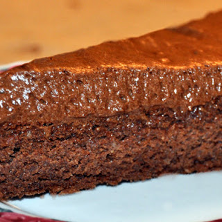 Two Layers Of Chocolate Cake