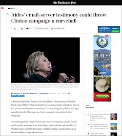 20160223_1936 Aides email-server testimony could throw Clinton campaign (WP).jpg