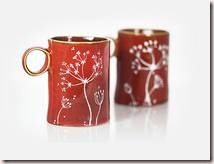 Hand Painted Rustic Autumn Ceramic Mugs