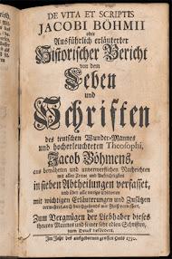 Cover of Jakob Bohme's Book De Vita et Scriptis Jacobi Bohmii Oder Ausfuhrlich Erlauterter Historischer Bericht (1730,in French)
