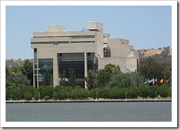 High Court of Australia from lake