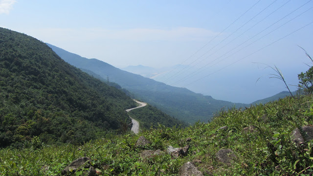 Heading up the Hai Van Pass.