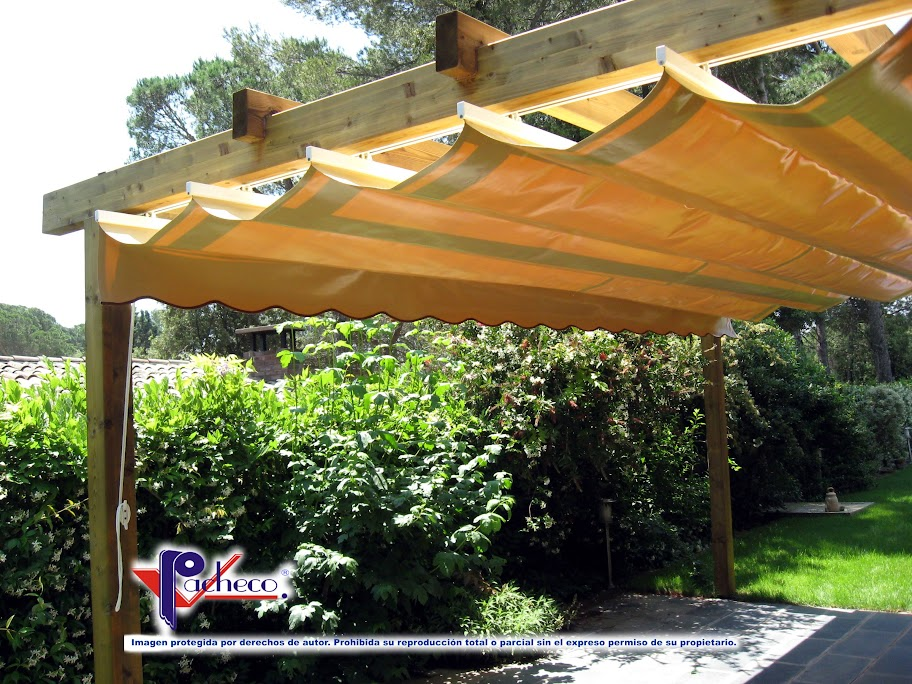 Sistemas de toldos para patio o jard n en piles valencia - Toldos para exteriores ...