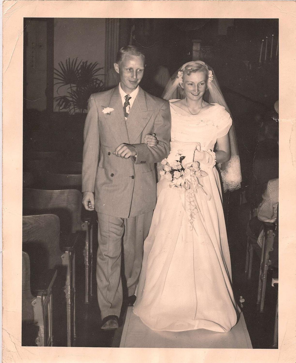 40s Vintage Wedding Photo 8 x 10