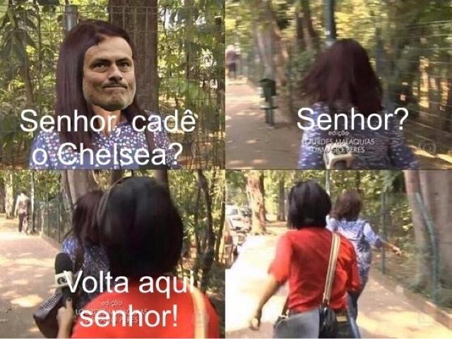 Senhora, você viu o Chelsea? Senhora?
