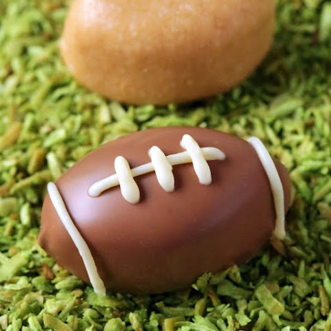 Chocolate Peanut Butter Football Truffles (gluten-free, grain-free, with paleo + vegan options)