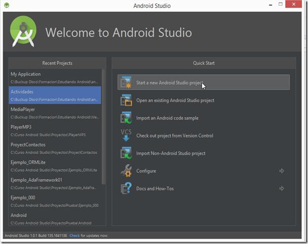 Desarrollo Avanzado Web: Anatomía de un Proyecto Android