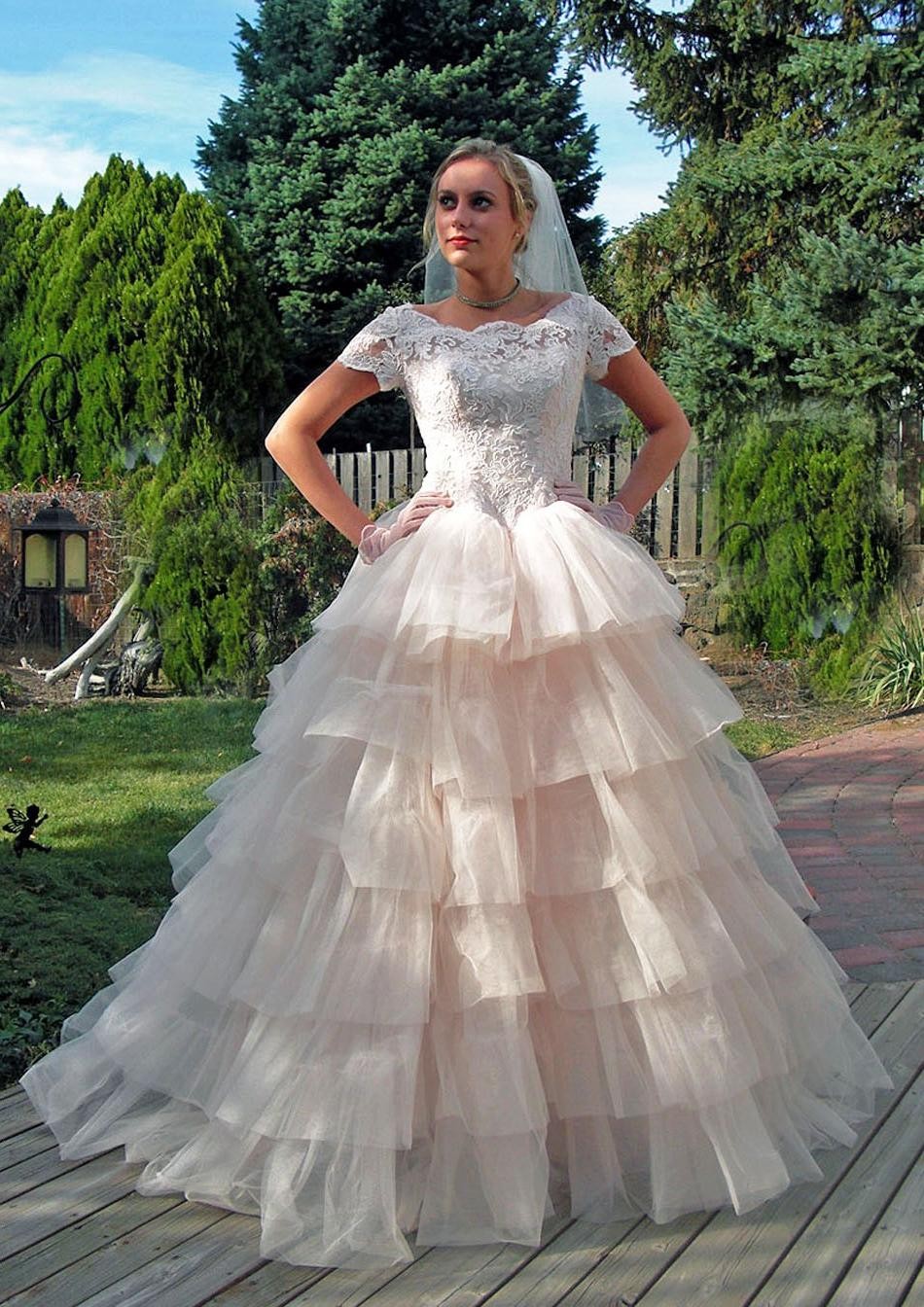 Ruffles Wedding Gown just