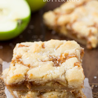Salted Caramel Apple Butter Bars