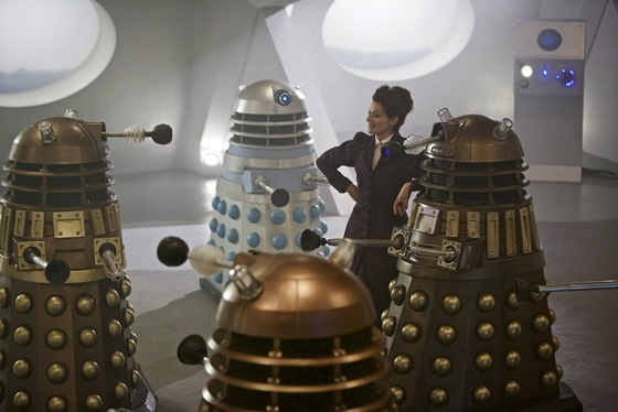 Missy and the Daleks in Doctor Who The Witch's Familiar