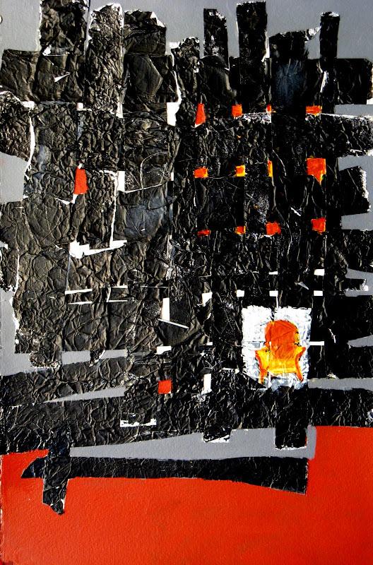 """""""Woven Chair"""" Acrylic/Foil"""