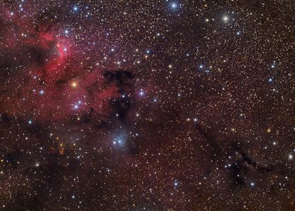 Nebulosa da Caverna, Sharpless 155, LDN 1210 e HH 168