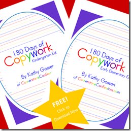 free copywork for kindergarten or early elementary homeschool