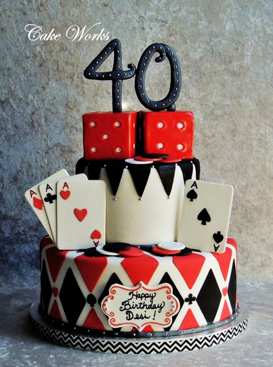 40th-birthday-poker-themed-cake