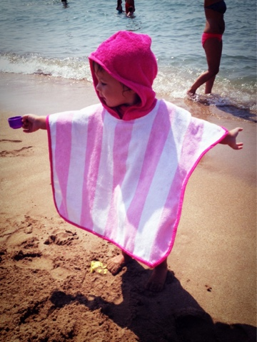 toalla con capucha para niños